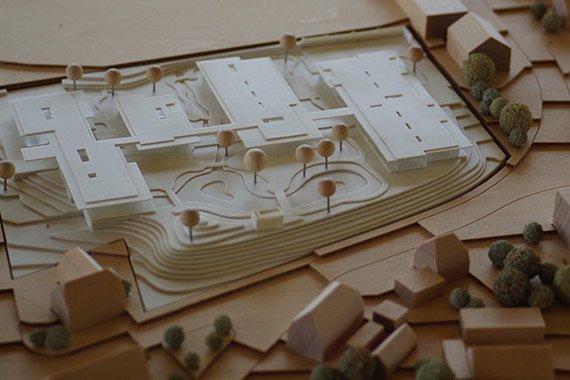 Modell eines geplanten Gebaeudes